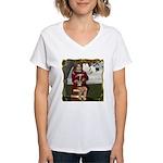 Little Miss Tucket Women's V-Neck T-Shirt