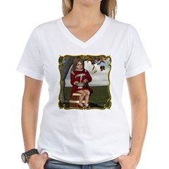 Little Miss Tucket Women's V-Neck T-Shirt