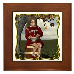 Little Miss Tucket Framed Tile