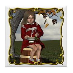 Little Miss Tucket Tile Coaster