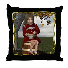 Little Miss Tucket Throw Pillow