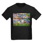 Lilies2-Am.Hairless T Kids Dark T-Shirt