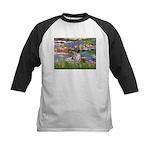 Lilies2-Am.Hairless T Kids Baseball Jersey