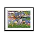 Lilies2-Am.Hairless T Framed Panel Print