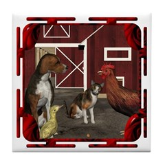 The Little Red Hen Tile Coaster