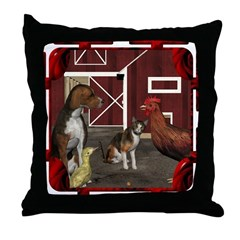 The Little Red Hen Throw Pillow