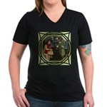 LRR - In the Forest Women's V-Neck Dark T-Shirt