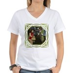 LRR - In the Forest Women's V-Neck T-Shirt