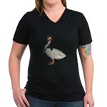 Mother Goose (The Goose) Women's V-Neck Dark T-Shi