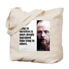 "Dostoevsky ""Lying"" Tote Bag"