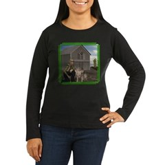 Old MacDonald Women's Long Sleeve Dark T-Shirt