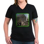 Old MacDonald Women's V-Neck Dark T-Shirt