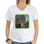 Old MacDonald Women's V-Neck T-Shirt
