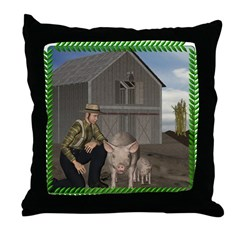 Old MacDonald Throw Pillow