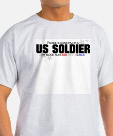 Red, white & blue Army Grandp T-Shirt