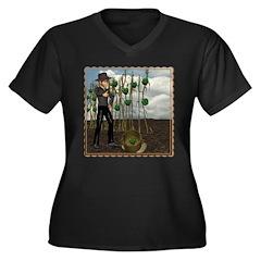 Peter Piper Women's Plus Size V-Neck Dark T-Shirt