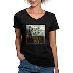Peter Piper Women's V-Neck Dark T-Shirt