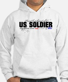 Red, white & blue Army Best F Hoodie