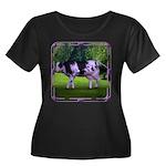 The Purple Cow Women's Plus Size Scoop Neck Dark T