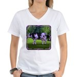 The Purple Cow Women's V-Neck T-Shirt