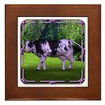 The Purple Cow Framed Tile