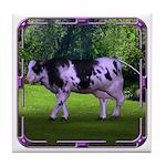 The Purple Cow Tile Coaster