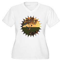 Robin Redbreast Women's Plus Size V-Neck T-Shirt