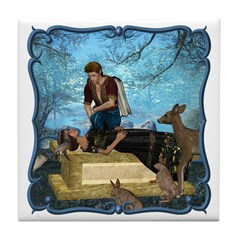 Snow White Tile Coaster
