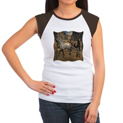 Southwest Horses Women's Cap Sleeve T-Shirt