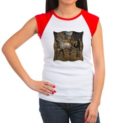 Southwest Horses Women's Cap Sleeve T-Shirt