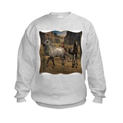 Southwest Horses Kids Sweatshirt