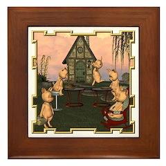 This Little Piggy Framed Tile