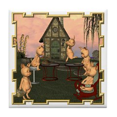 This Little Piggy Tile Coaster