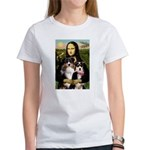 MonaLisa-Two Aussie Sheps. Women's T-Shirt