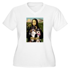 MonaLisa-Two Aussie Sheps. T-Shirt
