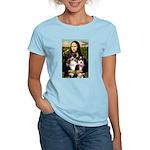 MonaLisa-Two Aussie Sheps. Women's Light T-Shirt