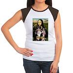 MonaLisa-Two Aussie Sheps. Women's Cap Sleeve T-Sh
