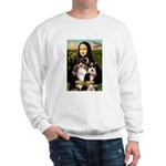 MonaLisa-Two Aussie Sheps. Sweatshirt