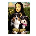 MonaLisa-Two Aussie Sheps. Postcards (Package of 8