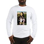MonaLisa-Two Aussie Sheps. Long Sleeve T-Shirt