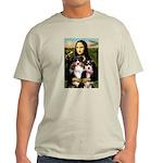 MonaLisa-Two Aussie Sheps. Light T-Shirt