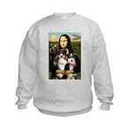 MonaLisa-Two Aussie Sheps. Kids Sweatshirt