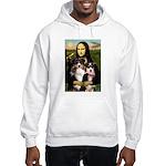 MonaLisa-Two Aussie Sheps. Hooded Sweatshirt