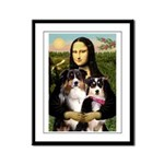 MonaLisa-Two Aussie Sheps. Framed Panel Print