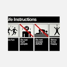 LIFE INSTRUCTIONS Rectangle Magnet