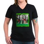 Where, Oh Where? Women's V-Neck Dark T-Shirt