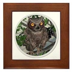 The Wise Old Owl Framed Tile