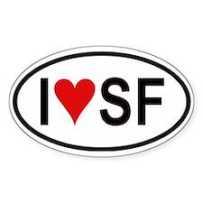 I Love San Francisco Oval Decal