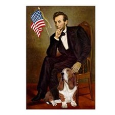Lincoln / Basset Hound Postcards (Package of 8)