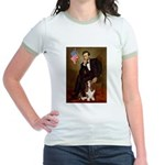 Lincoln / Basset Hound Jr. Ringer T-Shirt